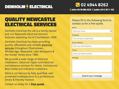 Denholm Electrical website