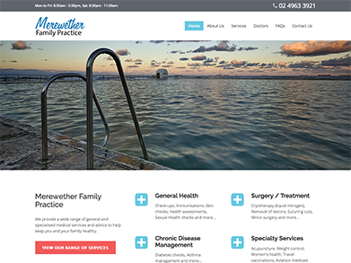 Merewether Family Practice website