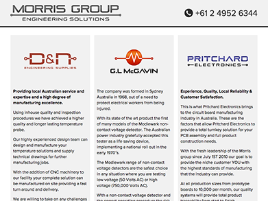 Morris Technology Group website