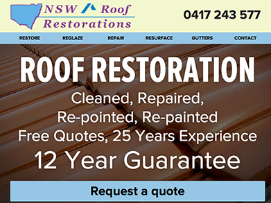 NSW Roof Restorations website