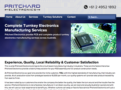 Pritchard Electronics website