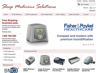 Sleep Medicine Solutions website