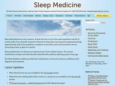 Sleep Medicine website